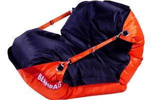 BeanBag Sedací pytel 189x140 duo orange - black