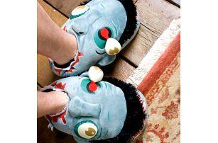 Plyšové papuče zombie