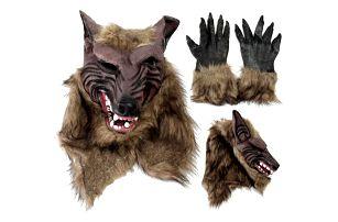 Halloweenská maska - vlk - různé varianty