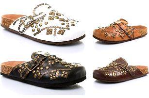 Pantofle se cvoky v různých barvách i velikostech