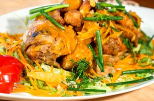 3chodové asijské menu pro 2 v Restauraci Via