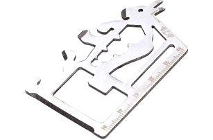 Multifunkční kovová pomůcka o velikosti platební karty