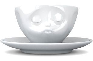 Líbající hrnek na kávu 58products, bílý