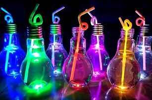 Kreativní LED svítící sklenice v podobě žárovky - 400 ml - poštovné zdarma