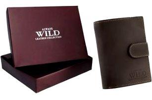 Pánská peněženka z broušené kůže ALWAYS WILD D1072L-MHU