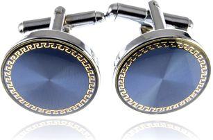 Fashion Icon Manžetové knoflíky kulaté se zlatým antickým vzorem rhodiované