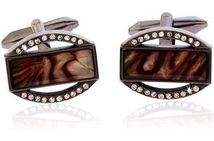 Fashion Icon Manžetové knoflíky společenské s krystalky