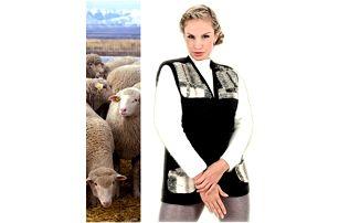 Vlněná vesta z ovčího rouna černá - nedejte mrazu šanci!