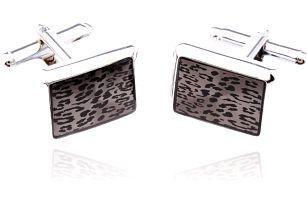 Fashion Icon Manžetové knoflíky leopard rhodiované