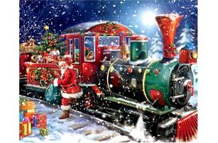Sada pro výrobu vlastního obrazu - Santa Claus - 40 x 30 cm