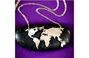 Náhrdelník Mapa světa
