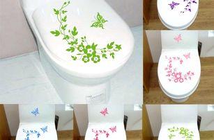 Samolepka na záchodové prkénko s motýlky - dodání do 2 dnů