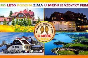 Šumava a Lipno v rodinném penzionu U Méďů - 3 dny s polopenzí, wellness, bazénem a dalšími možnostmi - platnost až do května 2017