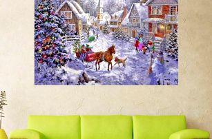 Sada pro výrobu vlastního obrazu - vánoční vesnička