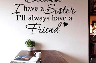 Samolepka na zeď - Sestra