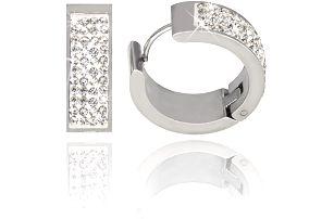 Fashion Icon Náušnice chirurgická ocel kroužky s kamínky