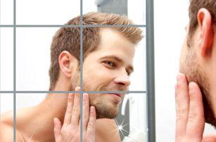 Zrcadlové samolepky na zeď 16 ks