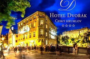 3 denní pobyt pro dva s polopenzí v luxusním 4* Hotelu Dvořák. Pobyt možný na Vánoce