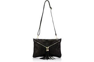 Kožená kabelka Erinn, černá
