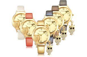 Dámské hodinky se sovičkami - poštovné zdarma