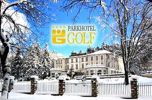 3denní luxusní pobyt ve 4* Parkhotelu GOLF Mariánské Lázně pro jednu nebo dvě osoby.