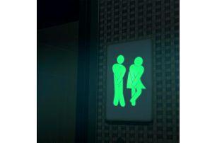 Samolepka na toaletu - svítí ve tmě - skladovka - poštovné zdarma