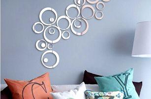 Kruhy - zrcadlová samolepka na zeď - dodání do 2 dnů