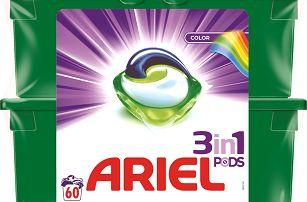 ARIEL Color 3v1 Gelové Kapsle - 60 ks