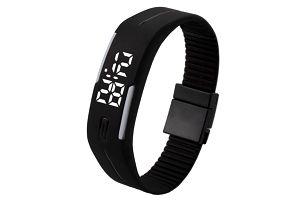 Digitální hodinky s obdélníkovým displejem - černá - dodání do 2 dnů