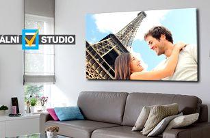 Fotoobraz z vlastních fotografií na kvalitním plátně na dřevěném rámu, výběr z rozměrů