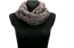 Zimní dámská pletená šála - tunel