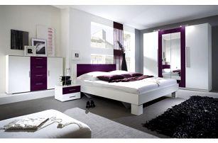 Moderní ložnice Veria bílá / lila - DOPRAVA ZDARMA!