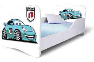Dětská moderní postel modré Auto 1