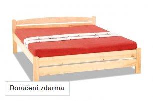 Manželská postel z masivu Baltazar