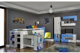 Modrý klučičí pokoj s patrovou postelí Adéla 2 - DOPRAVA ZDARMA!