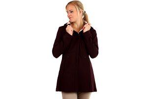 Softshellová bunda áčkového střihu i pro plnoštíhlé tmavě fialová