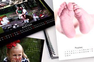 Fotokalendář: vlastní fotografie, 3 rozměry, spirálová vazba a poštovné v ceně
