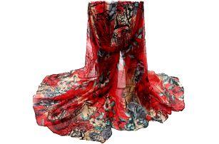 Lehký dámský šátek v několika barvách