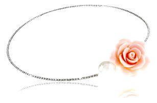 Fashion Icon Náhrdelník růže pastel a perla