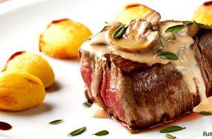 2x 250g flank steak v restuaraci Garnet