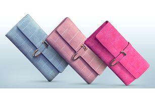 Elegantní prošívané peněženky ve tvaru psaníčka