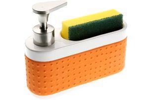 Stojánek na houbičku a mýdlo Versa Orange Scourer