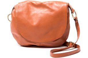 Kožená kabelka Desideria, koňak - doprava zdarma!