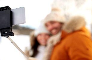 Selfie tyč s Bluetooth ovladačem