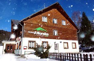5denní vánoční pobyt s polopenzí v hotelu Alfonska*** v Krkonoších pro 2 osoby
