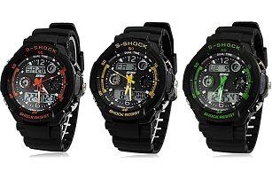 Pánské sportovní hodinky DUAL TIME ve 3 barvách