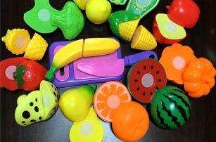Dětský set plastového ovoce a zeleniny - 9 ks