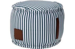 Taburet na sezení s proužky 45x37 cm