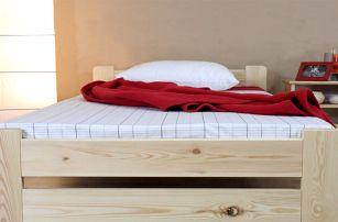 Masivní dřevěná postel Verona s matrací i roštem - pro dokonalý odpočinek