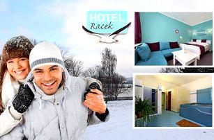 3denní zimní pobyt na břehu Lipenské přehrady se snídaní nebo polopenzí a vstupem do wellness v Hotelu Racek, platnost až do 30. 5. 2017